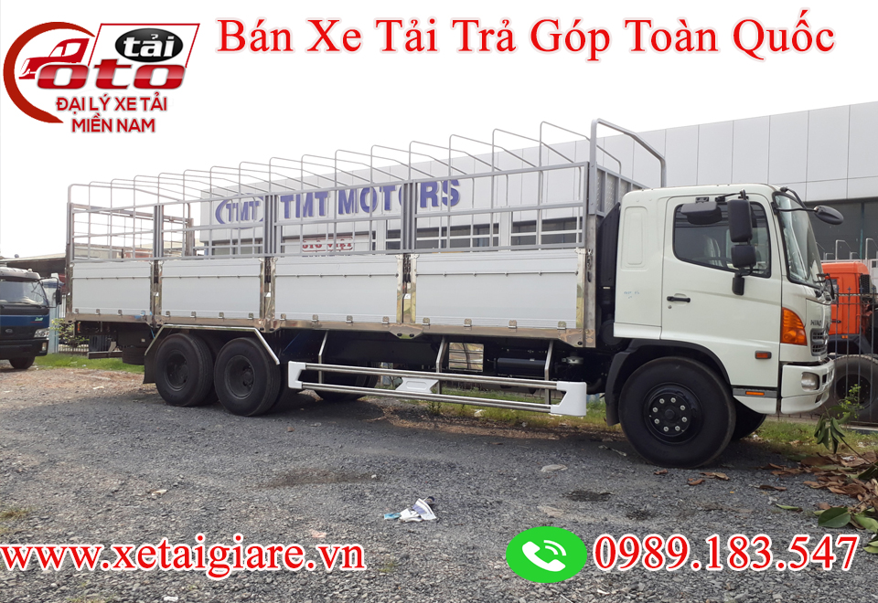 www.xetaigiare.vnXE TẢI HINO 16T - THÙNG BẠT DÀI 9.2M -XE HINO FL8JTSL
